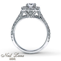 Neil Lane Bridal Ring 1 1/8 ct tw Diamonds 14K White Gold