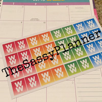 FREE SHIPPING C9 Weight Watchers weight loss diet stickers for Erin Condren Life Planner/Plum Paper Planner - set of 32