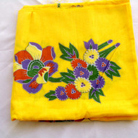 Hand print cheesecloth fabric, for your craft mind