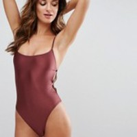 Somedays Lovin One Side Swimsuit at asos.com