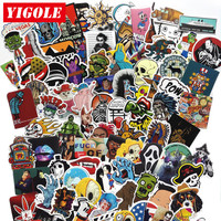 50-100pcs Not Repeating Sticker Set PVC Anime Laptop Doodle Stickers For Kids Classic Toys