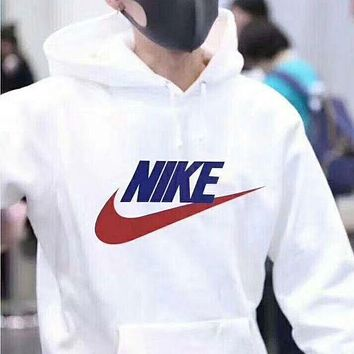 DCCKFM6 NIKE' Women Men Fashion Print Hoodie Top Sweater Sweatshirt Coat White