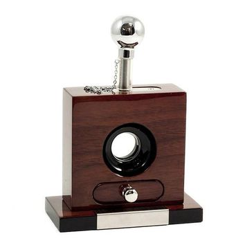 Walnut Wood Guillotine Cigar Cutter