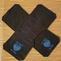 My Daddy My Hero, Baby Burp Pad, Baby Police Gift, Baby Blue Line Gift, Thin Blue Line Gifts, Bleed Blue Gifts, Set of 2 Flannel Pads