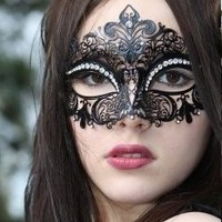 Kayso Inc Black Luxury Filigree Laser Cut Venetian Masquerade Mask (K2001BK)