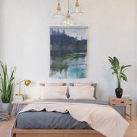 Blue Trees Wall Hanging by duckyb