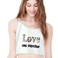 LOVE One Direction For Womens Crop Tank **