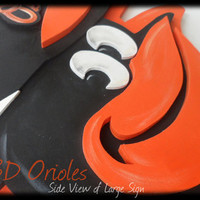 "Large Custom 3D Baltimore ORIOLES Baseball SIGN Logo Wooden  Plaque O's 16x19""  Layered Wood Wall"