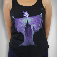 Maleficent Castle Junior Fitted Tank