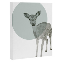 Morgan Kendall aqua deer Art Canvas