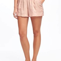 "Mid-Rise Soft Pull-On Utility Shorts for Women (4"") 