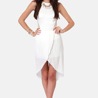 If That Don't Pleat All! Pleated White Tulip Skirt