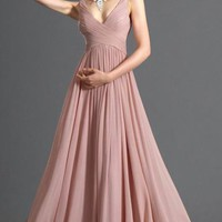Pretty Long Pink Tailor Made Evening Prom Dress (LFNAL0428) cheap online-MarieProm UK