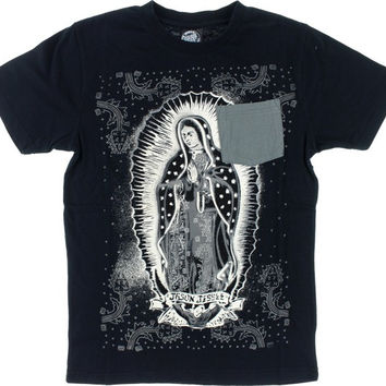 Santa Cruz Pocket Guadalupe Tee Small Black