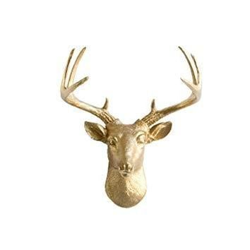 The Mini Virginia | Deer Head | Faux Taxidermy | Gold Resin