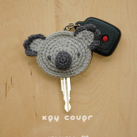 Koala Key Cover Crochet PATTERN, Instant PDF Download