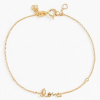 Women's SHY by Sydney Evan 'Love' Bracelet