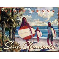Personalized San Clemente Wood Sign