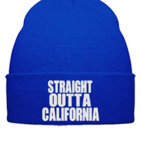 STRAIGHT OUTTA CALIFORNIA  - Beanie Cuffed Knit Cap