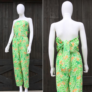 caff1d2c292b Vintage 70s The Lilly Pulitzer Palm Beach Preppy Jumpsuit Romper