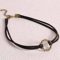 Womens Leather Choker Necklace Bracelet + Gift Box-32