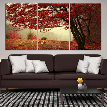 92953 - Forest Wall Art- Autumn Canvas Print- Forest Canvas- Forest Canvas Art- National Art Print- Canvas Print- Large Wall Art-