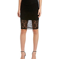 Guess Lace Pencil Skirt - Black