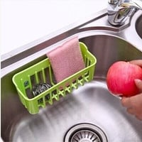 Kitchen Tools and Gadgets Candy Color Filtered Water Basket Storage Box for Dish Towel/Cloth Cleaning Ball