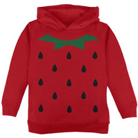 Halloween Strawberry Costume Red Toddler Hoodie
