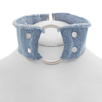 Denim O Cuff Choker