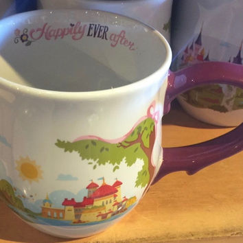 Disney Parks Happily Ever After Ceramic Coffee Mug New