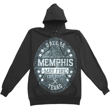 Memphis May Fire Men's  Crest Hooded Sweatshirt Black Rockabilia