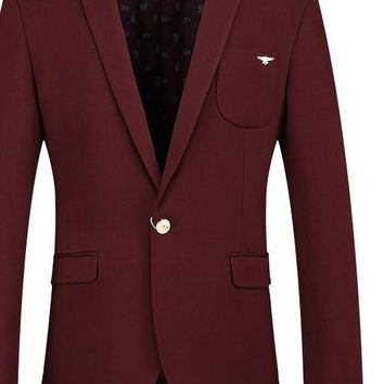 Men Blazer Latest Coat Design Luxury Men Casual Blazer Jackets Wine Red Blue Blazer Slim Fit