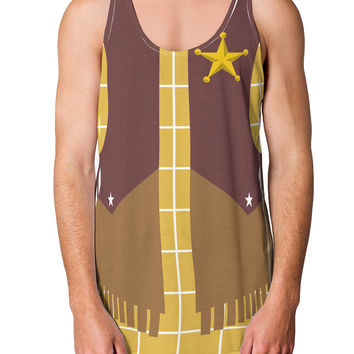 Cowboy Yellow AOP Loose Tank Top Dual Sided All Over Print