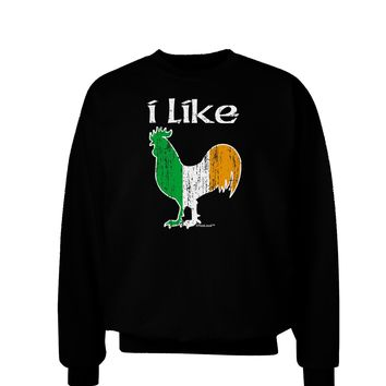I Like Irish Rooster Silhouette Adult Dark Sweatshirt by TooLoud