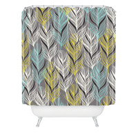 Mary Beth Freet Haute Home Feathers Shower Curtain