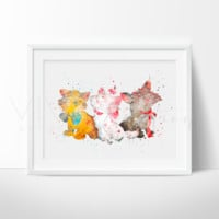 Aristocats Watercolor Art Print