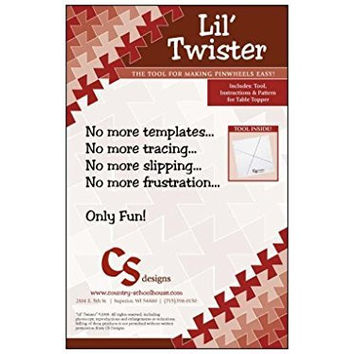 """Lil Twister Pinwheel Quilt Template 5"""" Squares"""