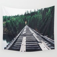 Pnw Bridge Wall Tapestry by Black Winter