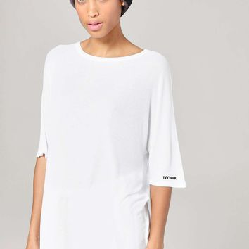 Slinkly Rib Oversized Tee by Ivy Park   Topshop