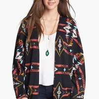 Painted Threads Open Front Patterned Cardigan (Juniors) | Nordstrom