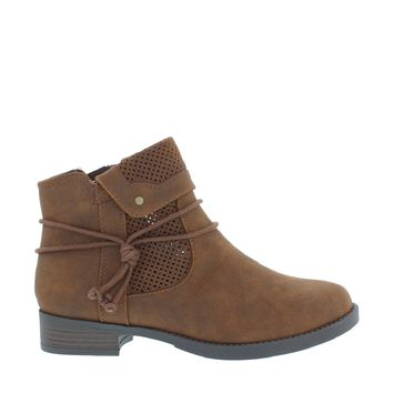 Laser Cut Fold Over Boot (BROWN)