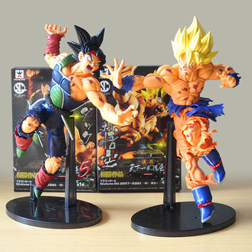 25CM Banpresto Scultures BIG Dragon Ball Z Resurrection Of F Dragonball Z Super Saiyan Son Goku Bardock Figure Free shipping
