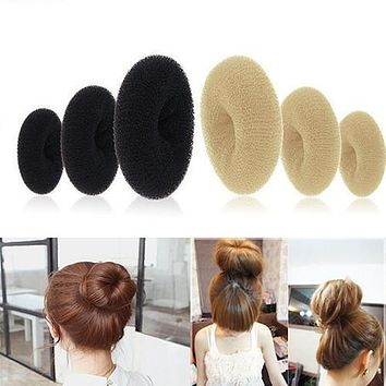 New arrival Women Magic Blonde Donut Hair Ring Bun Former Shaper Hair Styler Maker Tool Hair Accessories 7FIX 7VPO