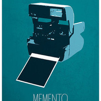 Memento minimalist film movie poster print Calm The Ham | Calm The Ham