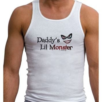 Daddys Lil Monster Mens Ribbed Tank Top