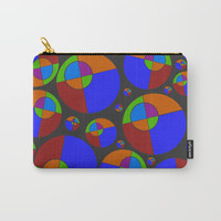 Bubble red & blue 09 Carry-All Pouch by Zia