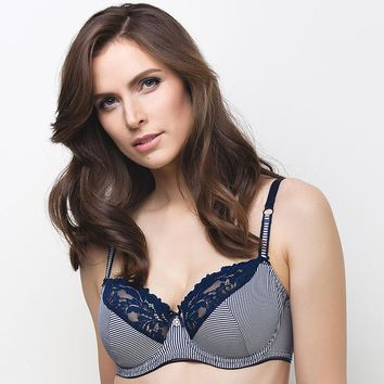 STYLISH FULL FIGURE BRA LAUMA LINGERIE NAVY (LM82E20)