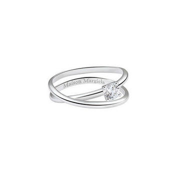 Twisted Ring with Diamond Solitaire - 0.3 carats