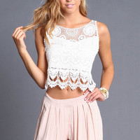 TIERED CROCHET BACKLESS TOP